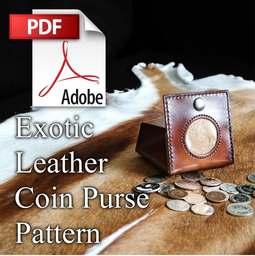Exotic Leather Coin Purse PDF Pattern