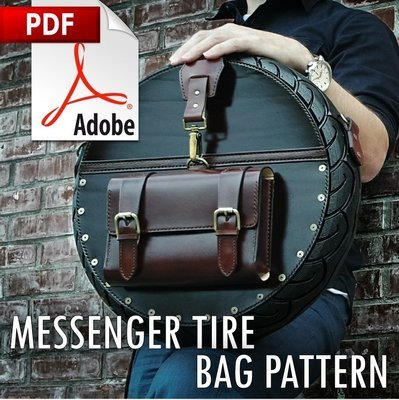 MESSENGER TIRE BAG PDF PATTERN/w INSTRUCTIONS (2 designs included)