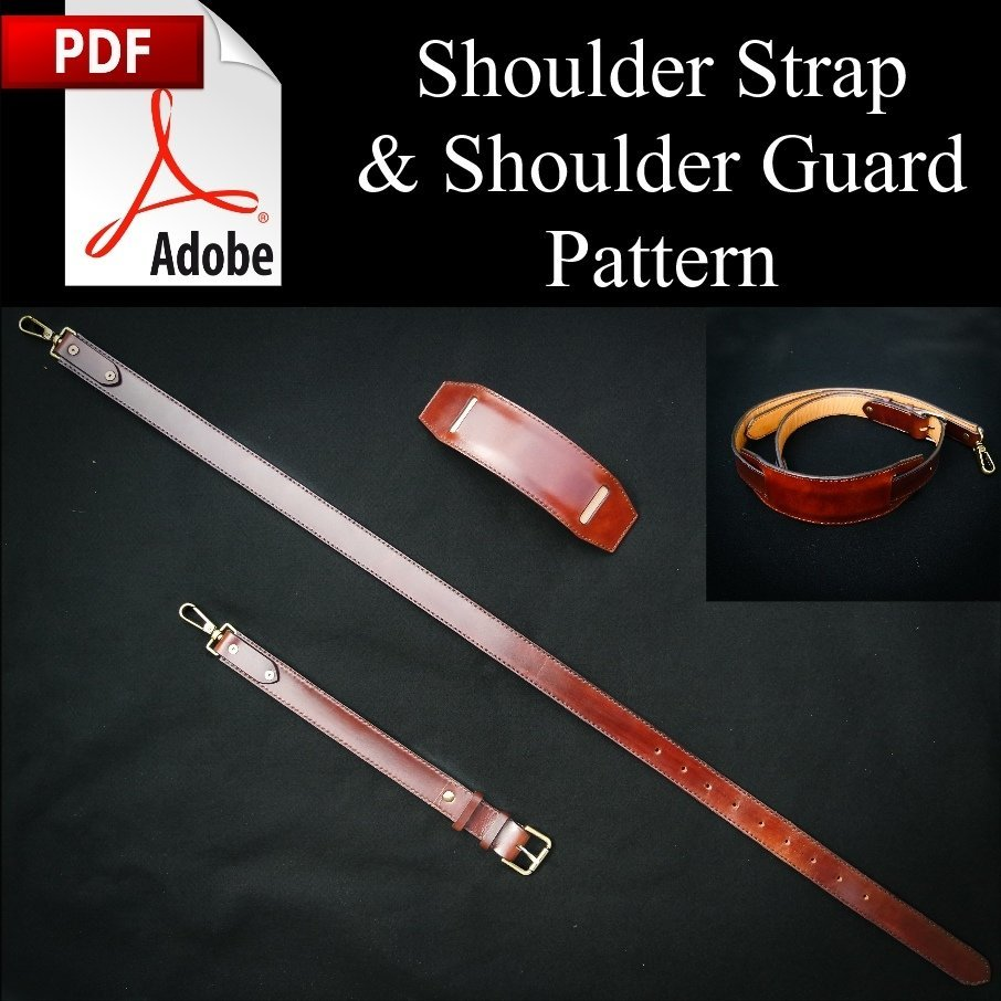 Hand Stitched Leather Shoulder Strap PDF Pattern w/Instructions