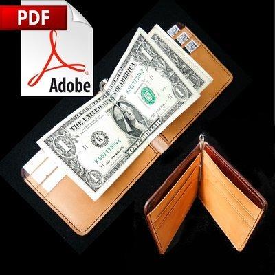 Money Clip Wallet Printable PDF Pattern w/Instructions