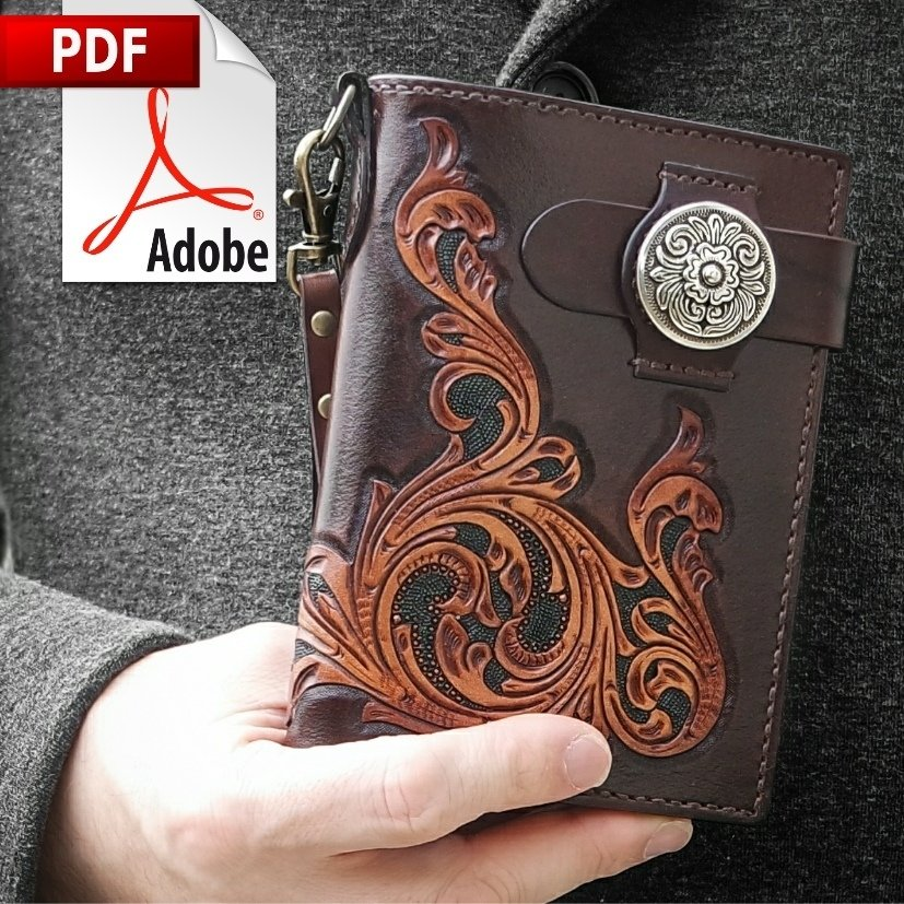 Artisan's Leather Passport Wallet PDF Pattern and Instructions