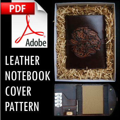 Leather Notebook Cover Pattern w/Instructions