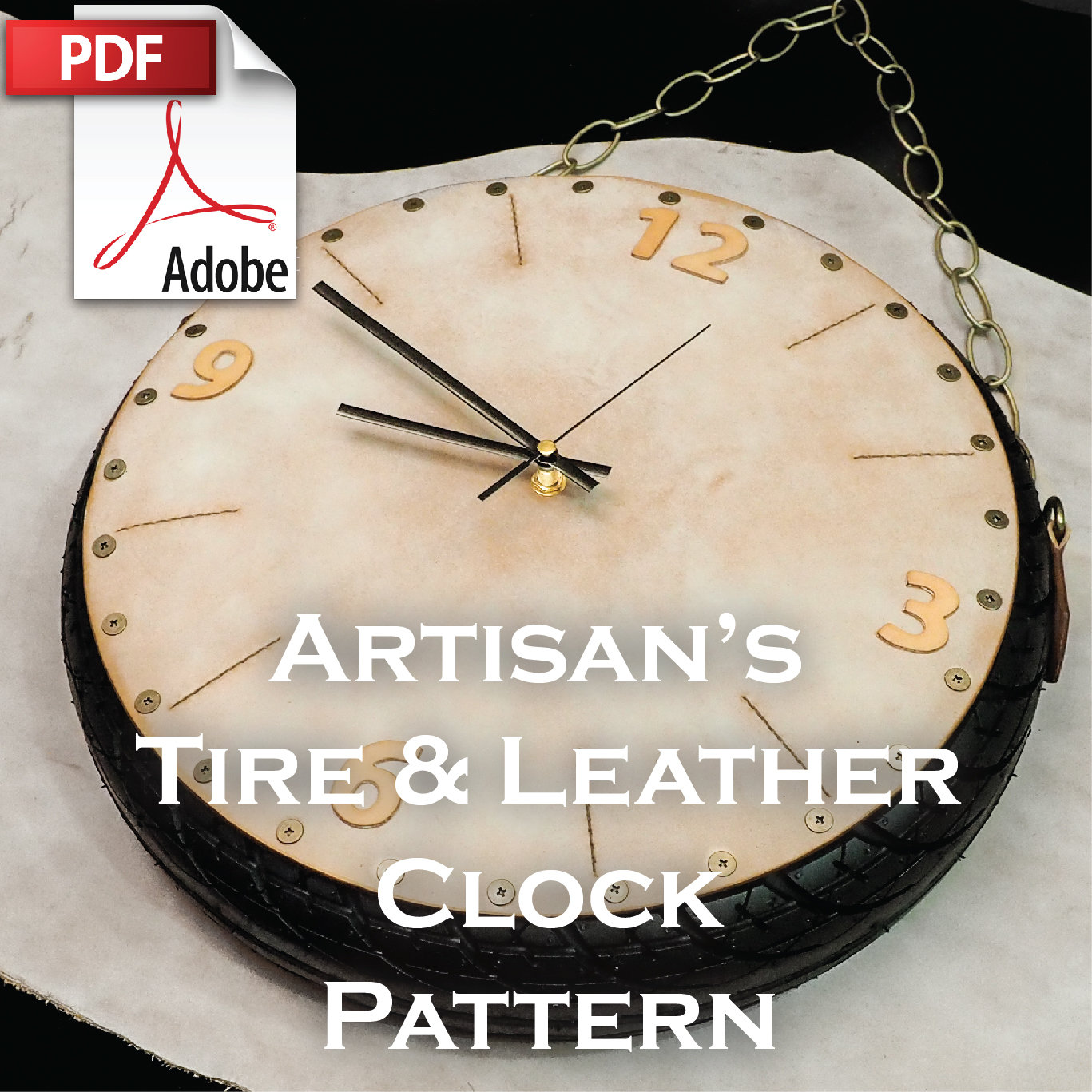 Artisan's Tire & Leather Clock Pattern