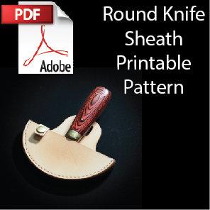 Mountable Round Knife Sheath Printable Pattern