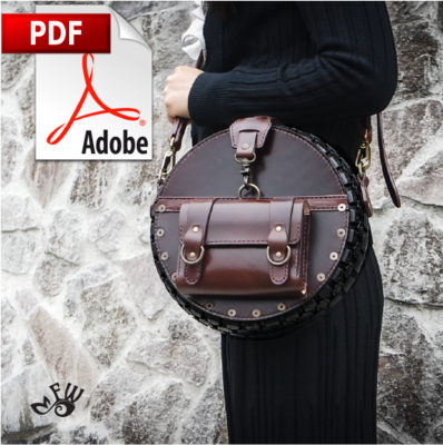 Ladies Designer Leather Tire Bag PDF Pattern