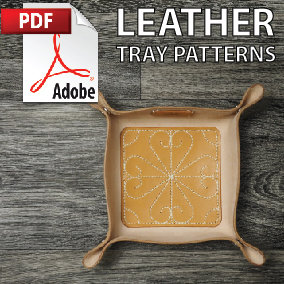 Leather Window Art Tray Printable PDF Patterns