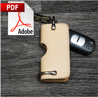 Leather Electronic Key Cover Printable PDF Pattern Download