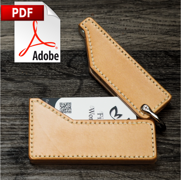 Flip Open Card Case Printable PDF Pattern Download