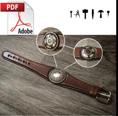 Interchangeable Concho Wristband PDF Pattern