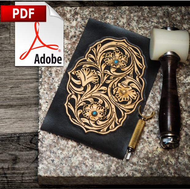 Floral Artwork Printable PDF Pattern with details