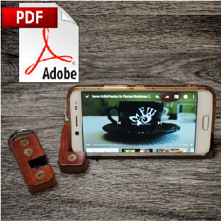Leather Smartphone Stand Printable PDF Pattern
