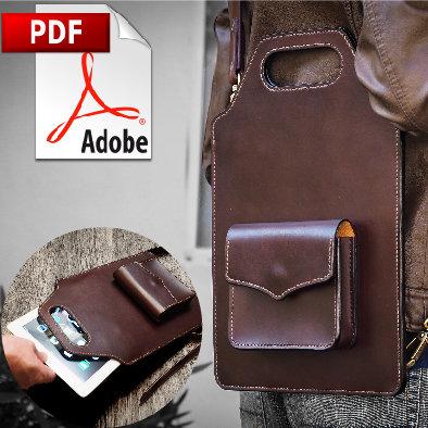 Leather Messenger Envelope Bag (IPAD) Printable PDF Pattern