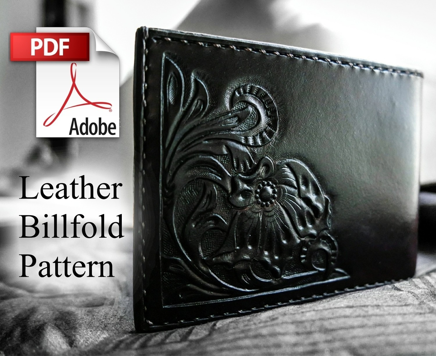 FW Leather Billfold Instructions and Pattern download