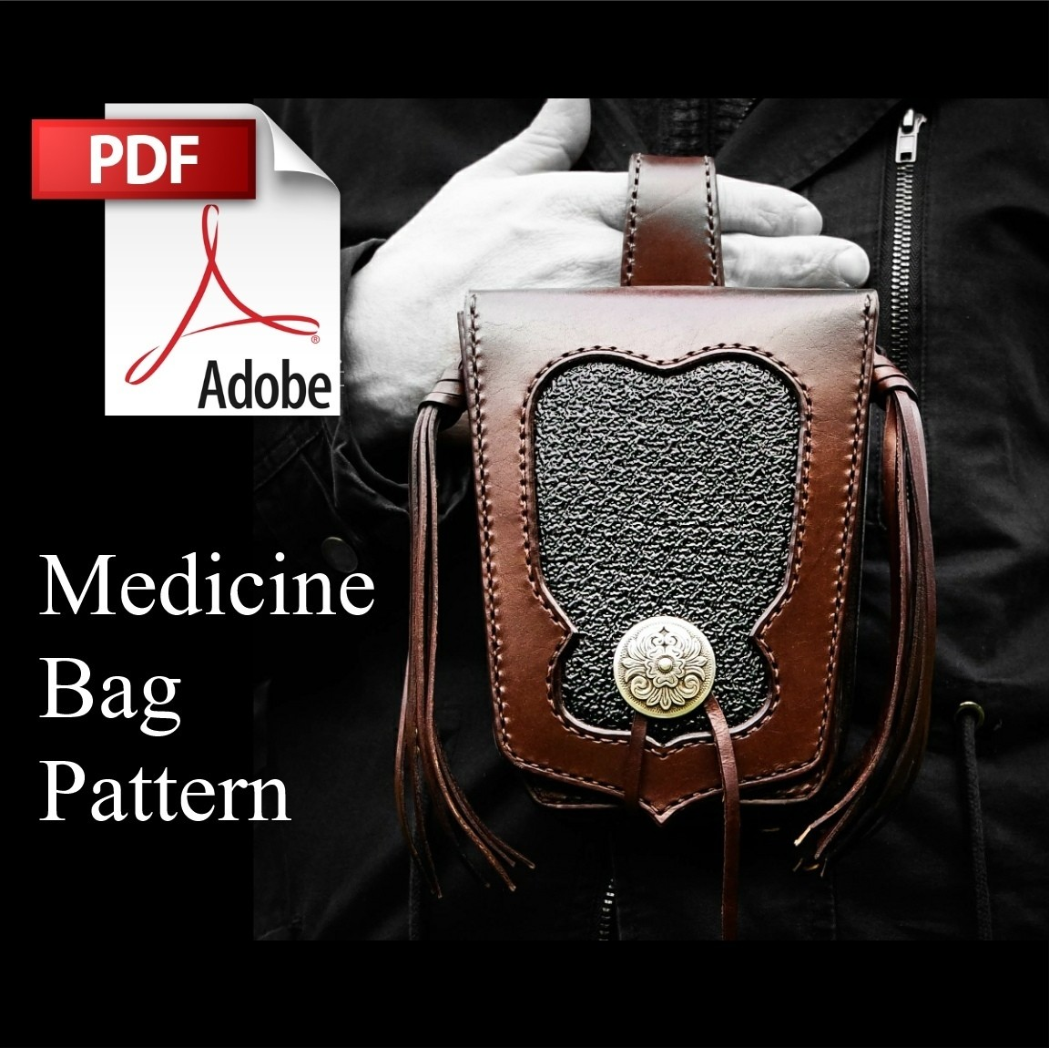Customizable Leather Medicine Bag Pattern and Instructions