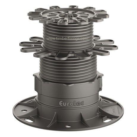 40mm Eurotec Adjustable Decking Pedestal Feet 25mm pack of 10 Eco S foot