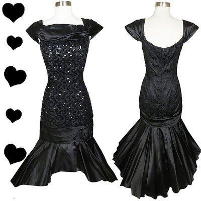 Black Sequin Mermaid Dress