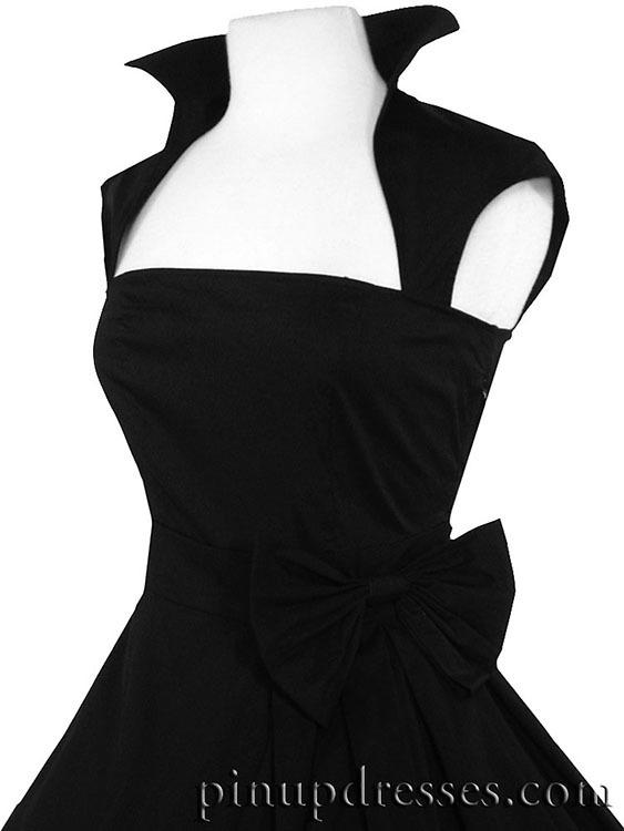 f4266cd534f New black retro rockabilly full skirt dress.
