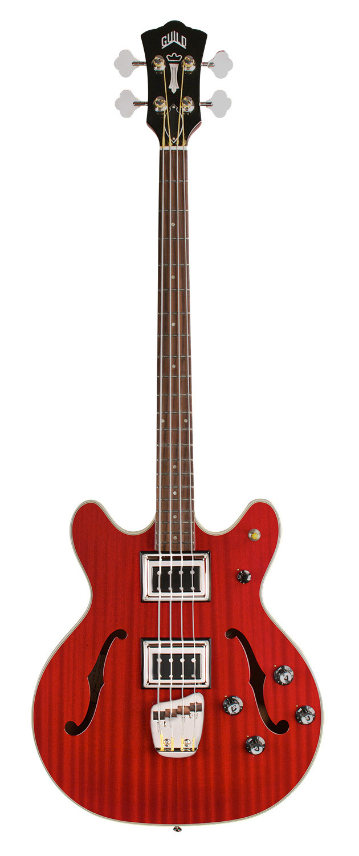 Guild Starfire II Bass - Cherry Red - Semi-Hollow Body - Dual Pickup Electric Bass Guitar 00296
