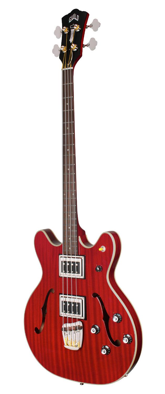 Guild Starfire II Bass - Cherry Red - Semi-Hollow Body - Dual Pickup Electric Bass Guitar