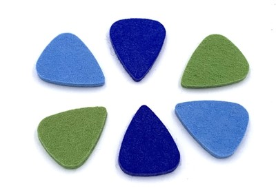 Felt Ukulele Picks - Six Pack