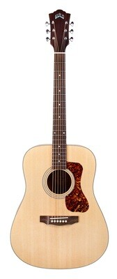 Guild D-240E LTD, Solid Sitka Spruce top, Flame Mahogany, Natural finish, with gig bag