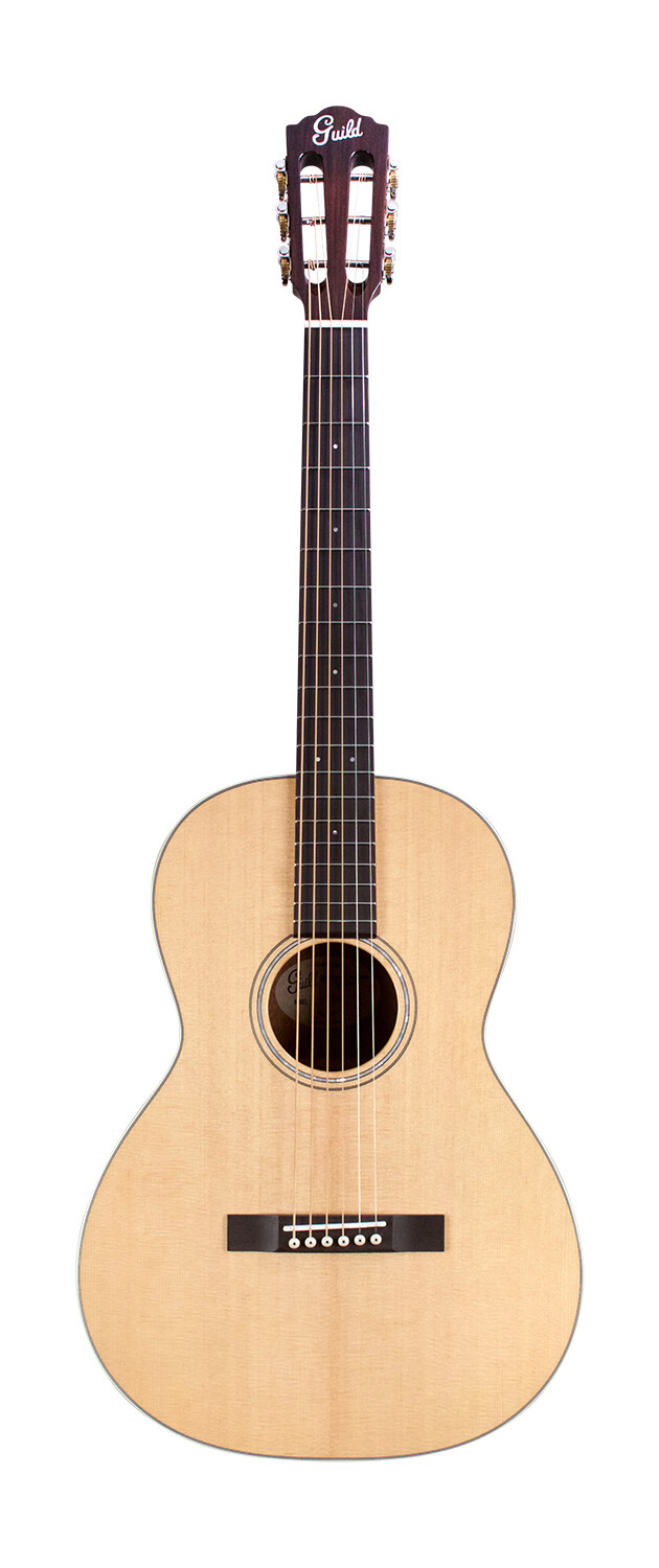 Guild  P-240 Memoir- Solid Sitka Spruce Top / Mahogany,  Parlor Size - free Cordoba Deluxe  Gig Bag