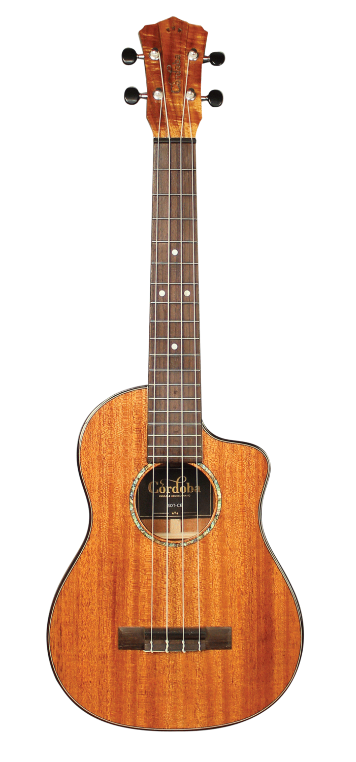 Cordoba 30T-CE, All Solid Acoustic Electric Tenor Ukulele with Polyfoam Case