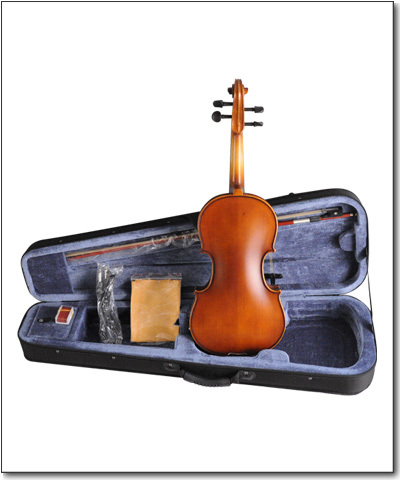 Violin Package with case, extra strings, bow, and case
