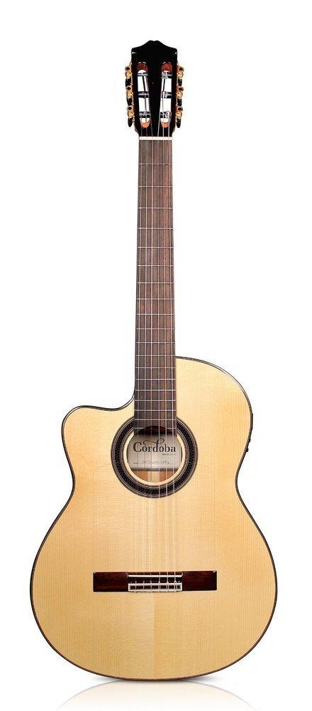 Cordoba GK Studio Negra Lefty - Gypsy King Signature Acoustic Electric Flamenco Guitar