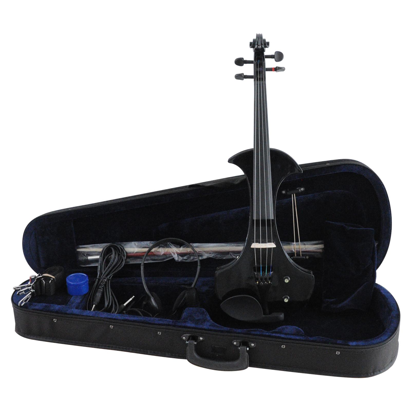Aileen VE501- Black - 4/4 - Electric - Violin + Foam Case + Bow + Headphone 00061