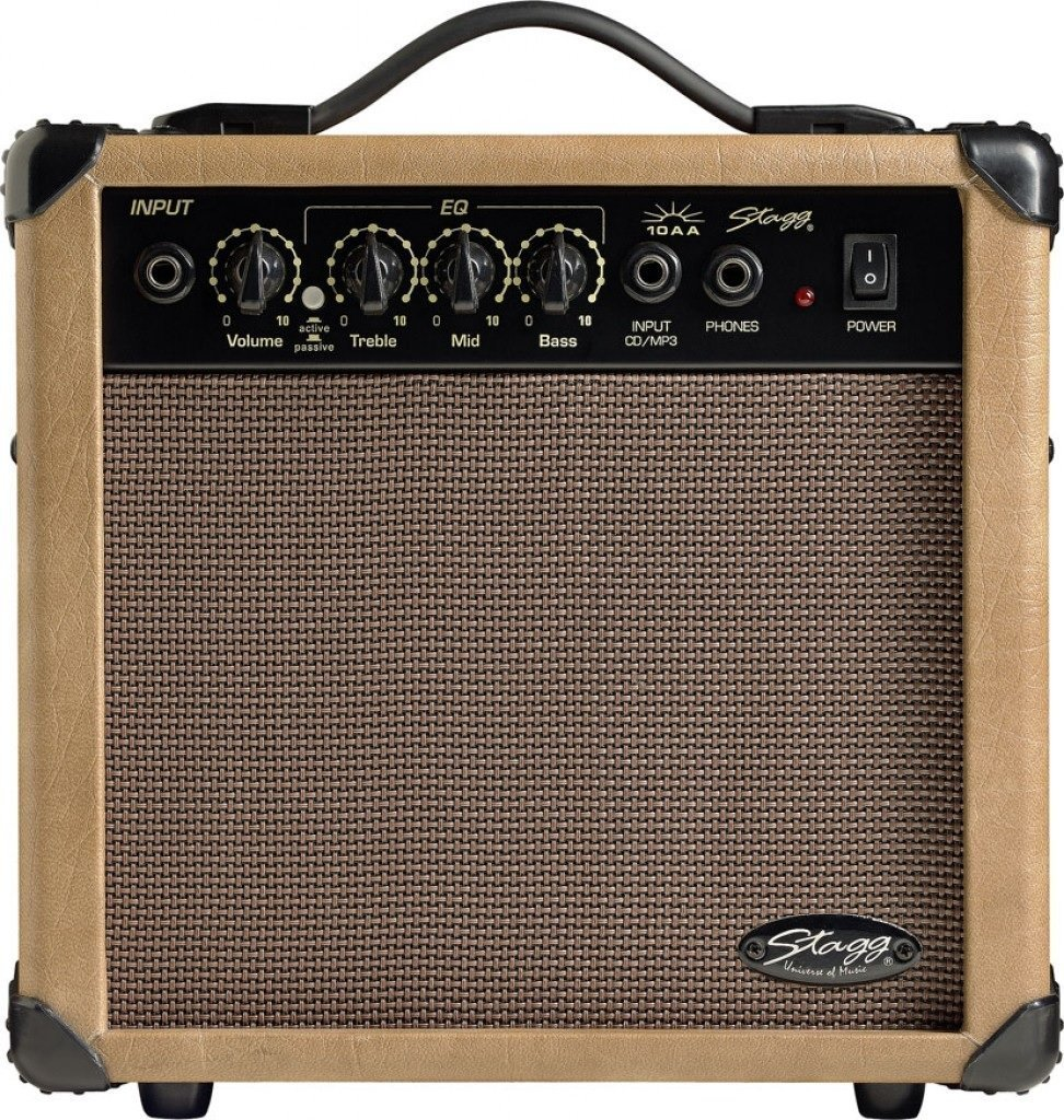 Stagg 10 AA - Made in USA - 10-Watt Acoustic Guitar Amplifier 00087
