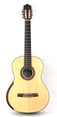 Calido Soloist DT - Spruce Double Top Classical Guitar, Lattice Braced, All Solid Wood, Indian Rosewood Back/Sides, Ebony Fretboard