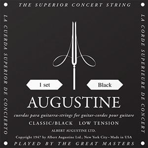 Augustine Classic Black Classical Guitar Strings - Low Tension Bass, Regular  Tension Trebles