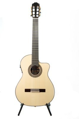 Cordoba 55FCE Negra Thinbody Flamenco - Solid Spruce Top, Ziricoté Back/Sides - Handmade in Spain