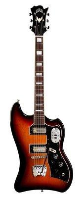 Guild S-200 T-bird Electric Guitar - Antique Burst - Solid Mahogany Body