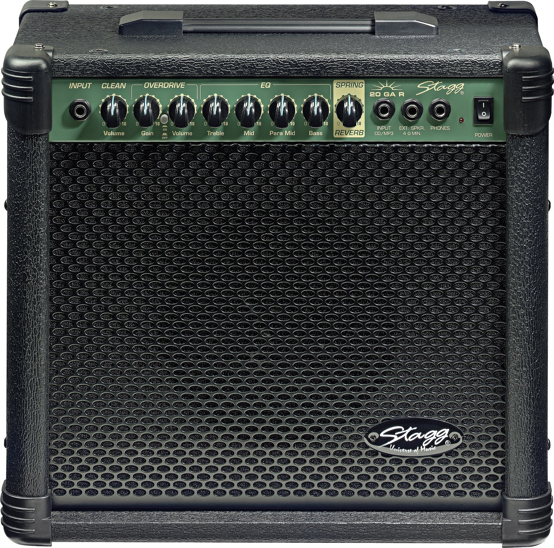 Stagg 20 GA R USA - 20-Watt Electric Guitar Amplifier with Spring Reverb 00142
