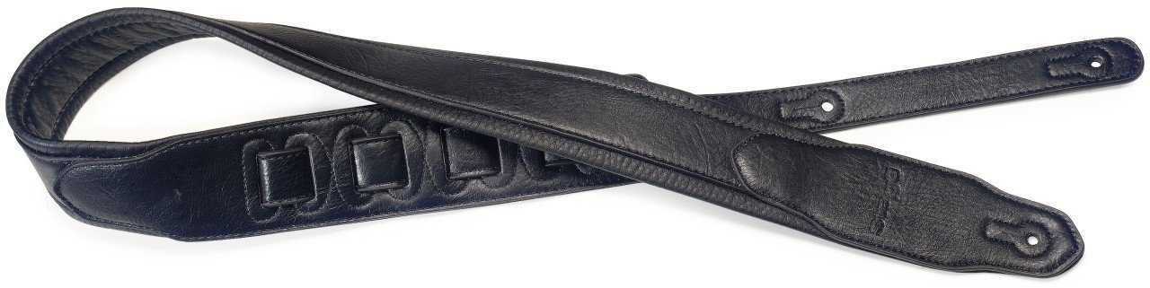 Stagg SPFL 30 BLK Padded Leather Style Guitar Strap, Black