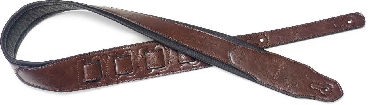 Stagg SPFL 40 BRW Padded Leather Style Guitar Strap, Brown 00155