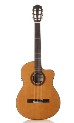 Cordoba C7-CE - Solid Cedar Top Acoustic Electric Classical Guitar - Indian Rosewood Back/Sides with Cordoba Deluxe Gig Bag