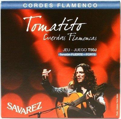 Savarez Tomatito T50J Nylon Flamenco/Classical Guitar Strings, High Tension