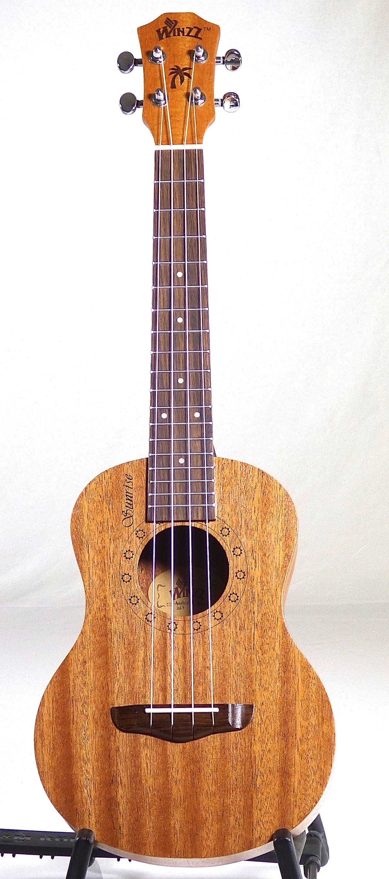 Winzz Sunrise Tenor Ukulele - All Mahogany 00198