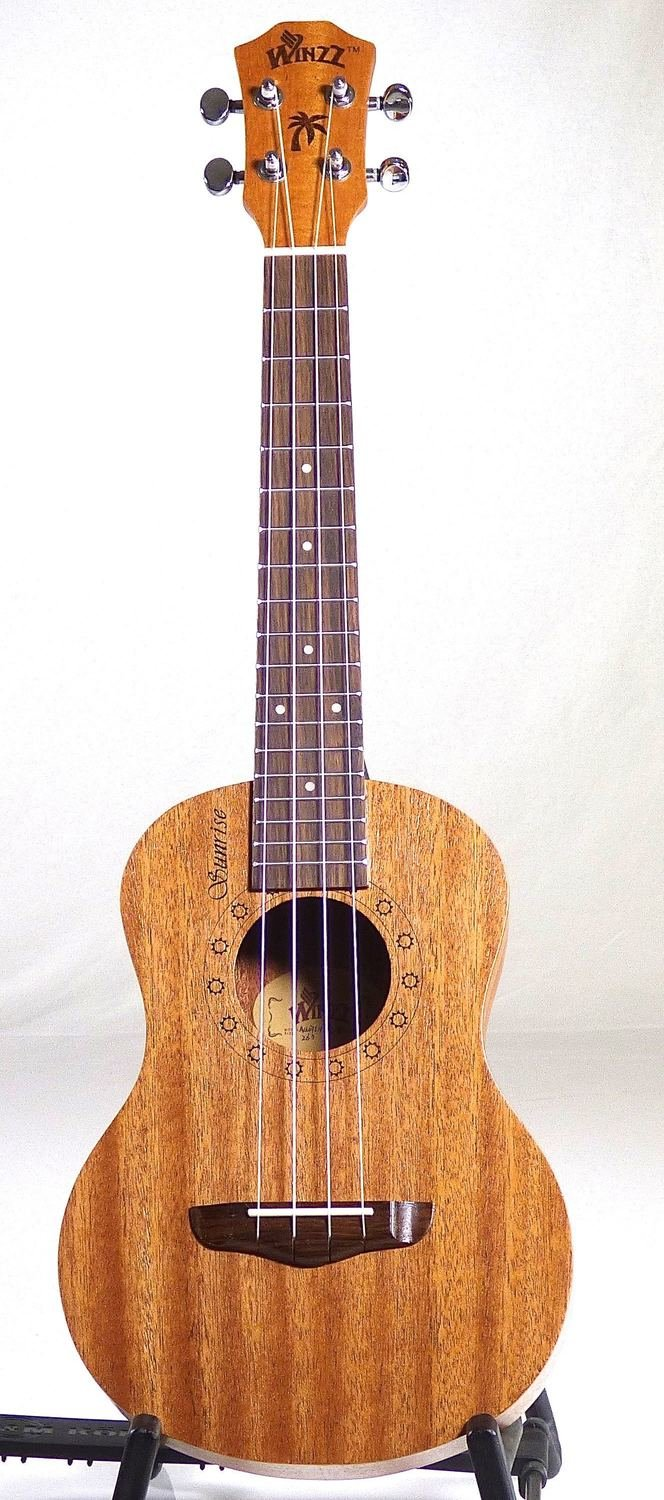 Winzz Sunrise Tenor Ukulele - All Mahogany  + Stagg Gig Bag + Cherub Digital Tuner