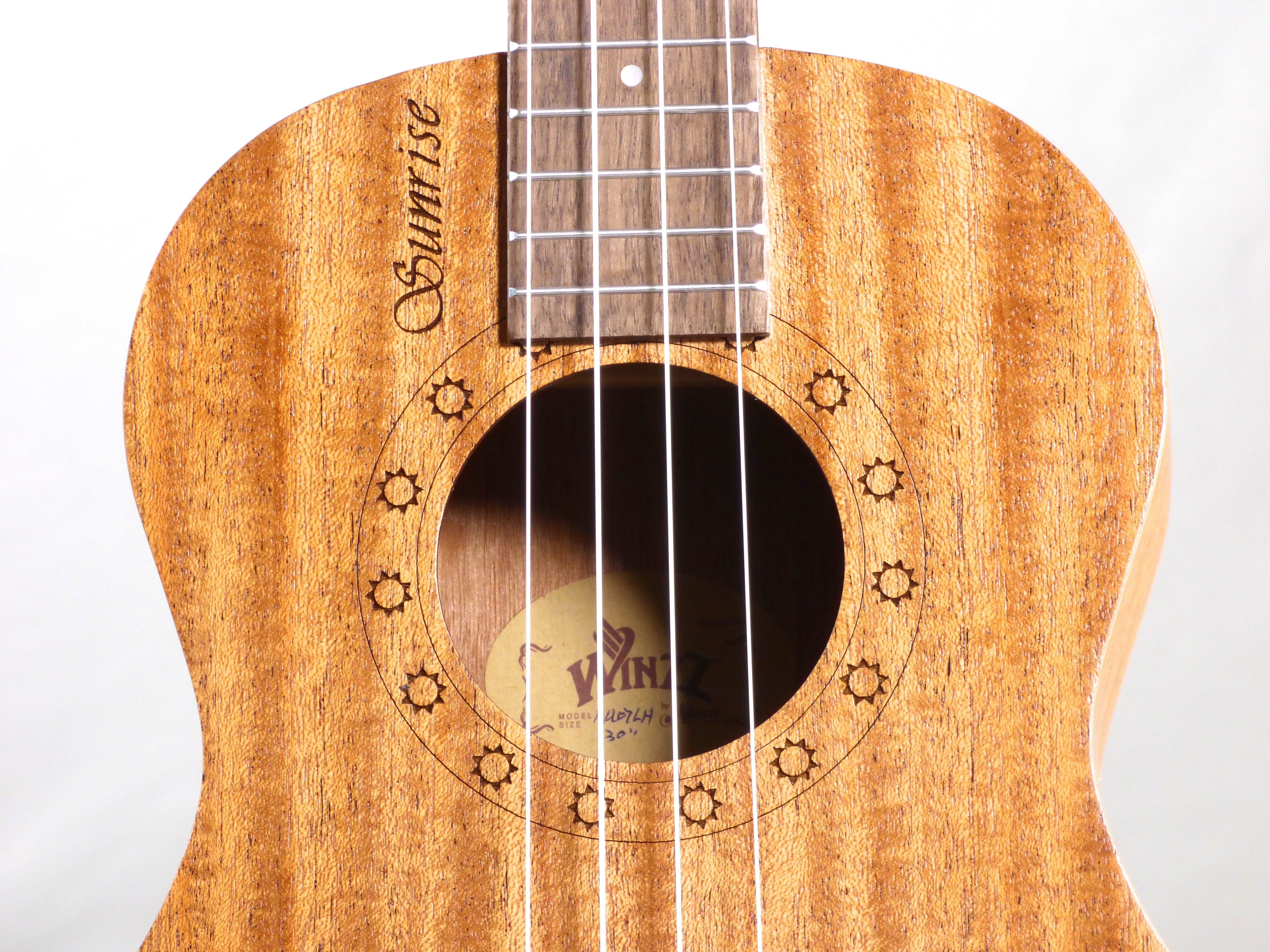 Sunrise Series Ukuleles - Available in Soprano, Concert,  and Tenor Sizes