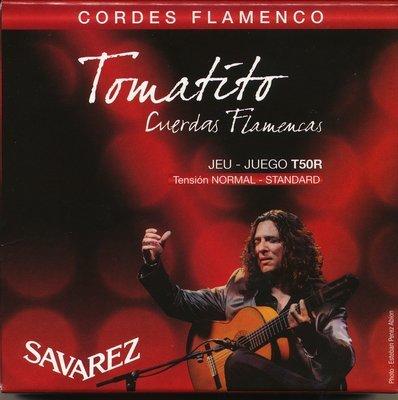 Savarez Tomatito T50R Nylon Flamenco/Classical Guitar Strings, Normal Tension