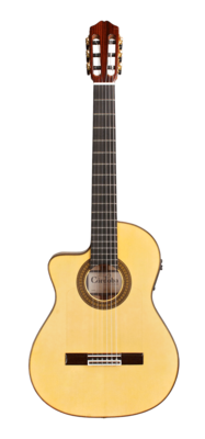 Cordoba 55FCE Thinbody Lefty - Solid European Spruce Top, Flamed Maple back/sides, Made in Spain