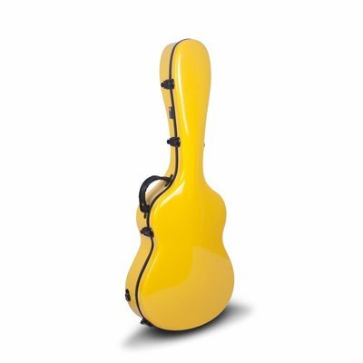 Crossrock CRF1000CYL - Fiberglass Hardshell Classical Guitar Case - Yellow