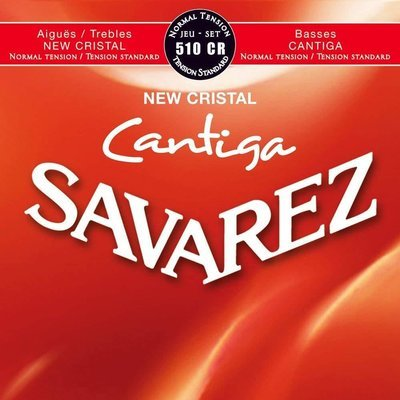 Savarez 510CR New Cristal Cantiga - Classical Guitar Strings, Normal Tension