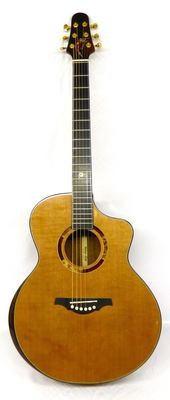 Yulong Guo Steel String Guitar, Cedar Double Top, Solid Koa Back/Sides