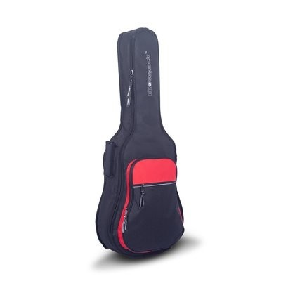 Crossrock CRSG106CBR - 10mm Padded Gig Bag - Full Size Classical Guitar - 39-Inch Classical Guitar - Black/Red