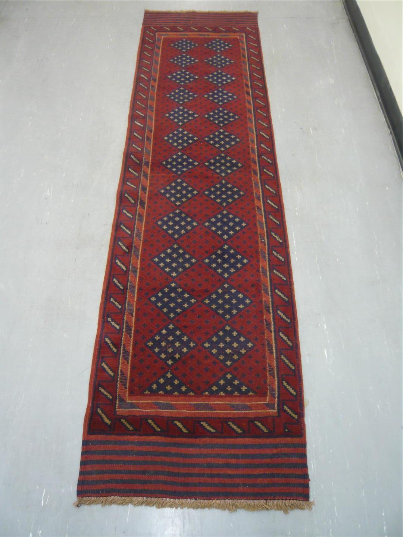 """Afghan Tribal Kelim Runner 8'2"""" 219118"""